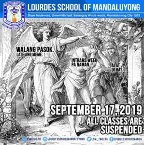 September 17 2019 No Classes