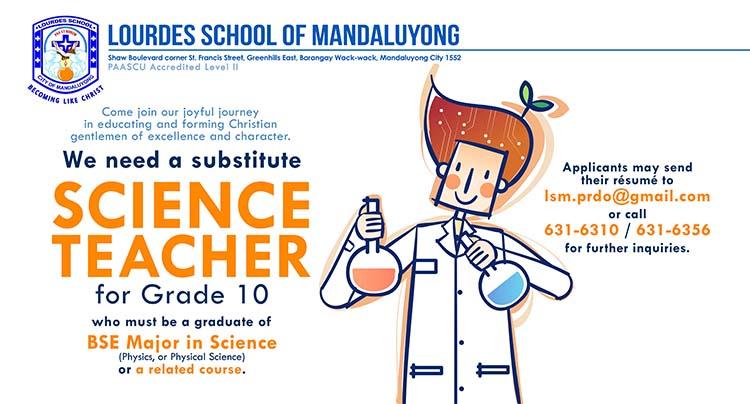 Substitute Science Teacher