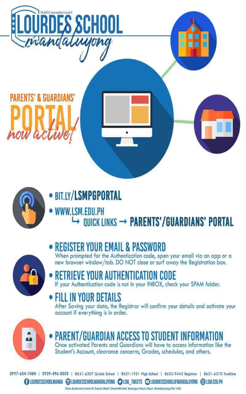 Parents' and Guardians' Portal is now active